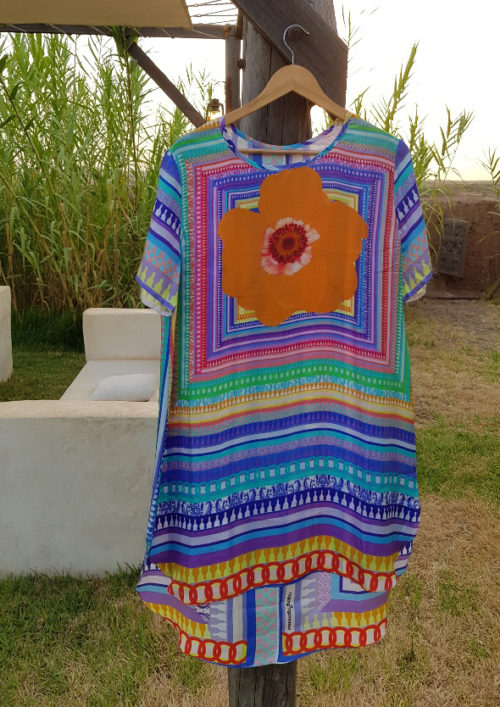 Candy Blue Susannagh Grogan Silk Tunic