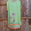 Aqua Daisy Chain Silk Tunic Susannagh Grogan
