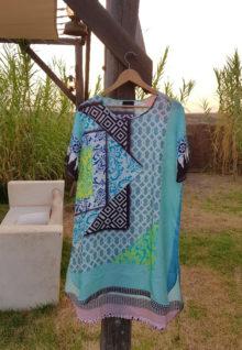 100% Silk Tunic | Tiles