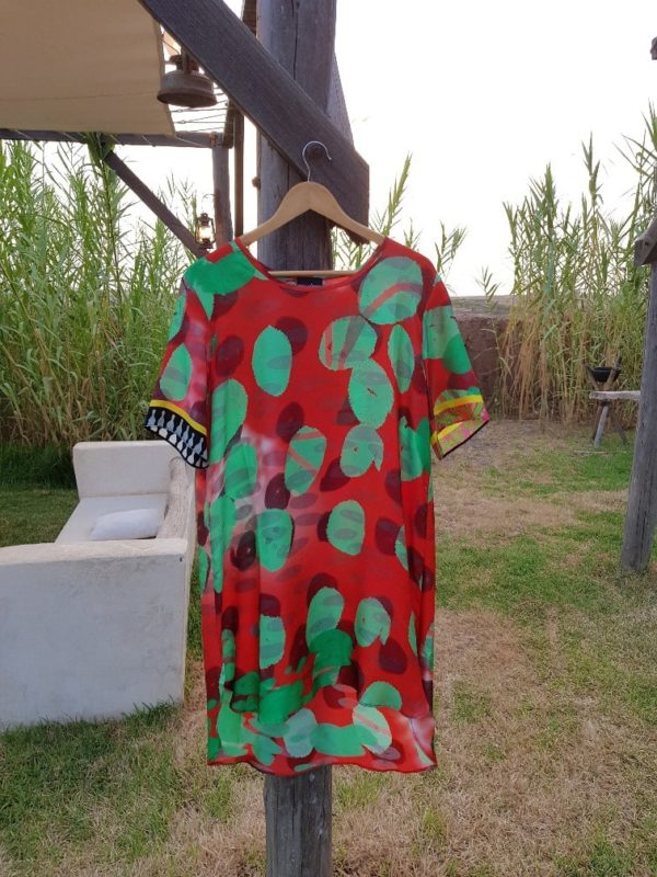 Red Dabs Silk Tunic Susannagh Grogan medium