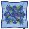 Susannagh Grogan BLUE Whirlpool FLOWER FLASH Medium Silk Square