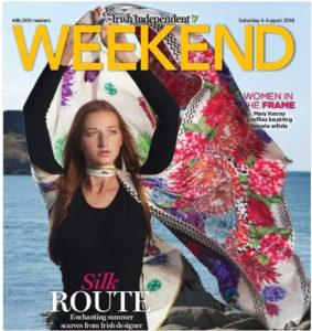 Susannagh Grogan Irish Designer Scarves Irish Independent Weekend Magazine