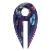 Susannagh Grogan Navy Zig Zag Flower Flash Collection