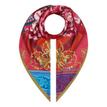 XL Carnival Collection 'Pink Scrolls' scarf