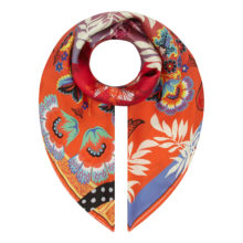 'Carnival' Scroll Orange Classic Scarf