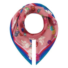 'Pink Ditzy Floral' Small Silk Scarf