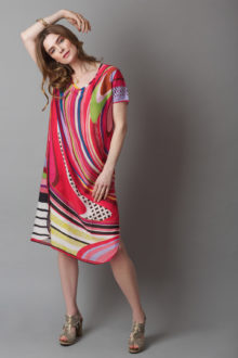 Susannagh Grogan RED SWIRL Tunic dress