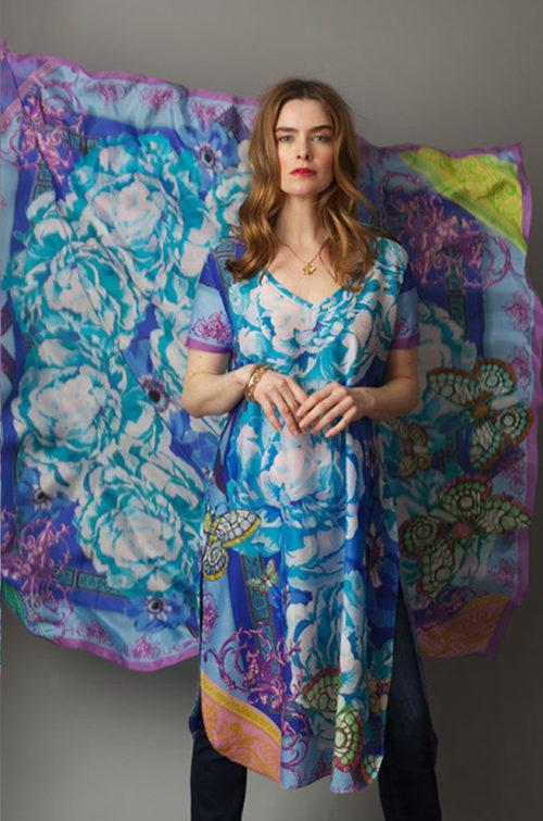 Susannagh Grogan SS19 Carnival Blue tunic dress