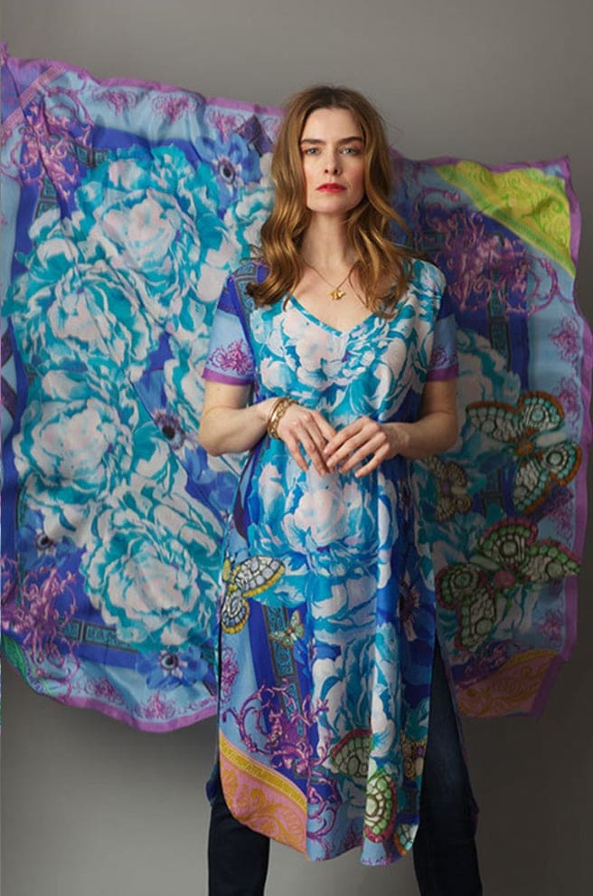 Susannagh Grogan SS19 Carnival Blue tunic dress