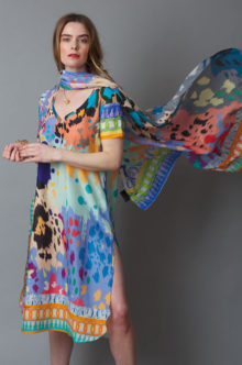 Susannagh Grogan SS19 Multi coloured skin print tunic dress
