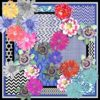 Floral Ikat Silk Scarf Statement print AW19 Susannagh Grogan