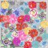 Grey Cluster Floral Small Susannagh Grogan Silk Scarf