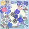 Blue Trellis Classic Square by Irish print designer Susannagh Grogan