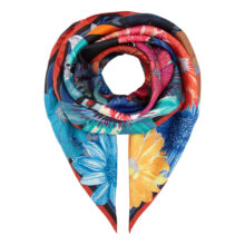 'Black Floral' Small Silk Scarf | As Seen: Irish Times Mag