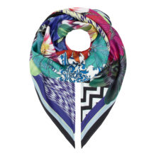 Extra Large 'Floral/Ikat' Silk Scarf | As Seen: Irish Times Mag