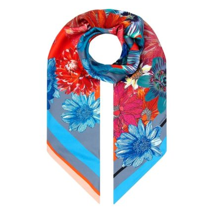 Susannagh Grogan Scarves 'Floral Long Silk Scarf + Mask Christmas Gift Set