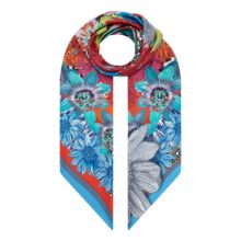 Kalidescope Floral Trellis XL Silk Scarf by Irish print designer for fashion Susannagh Grogan