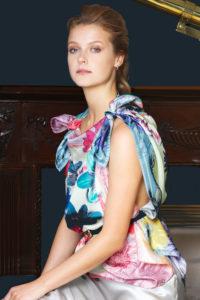 4 Susannagh Grogan 'Pink Trellis' €150 M Classic Silk Scarf www.susannaghgrogan.ie Brown Thomas Arnotts photoEmily Quinn