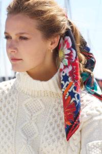 6 Susannagh Grogan 'Black Trellis' Long silk scarf €90 www.susannaghgrogan.ie Brown Thomas Arnotts PhotoEmily Quinn