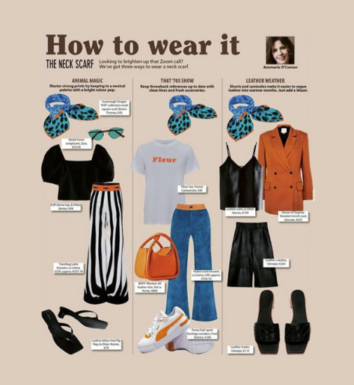 3 Ways to Wear Susannagh Grogan scarf