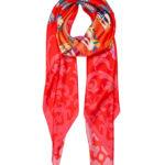 LOVE Red Susannagh Grogan Silk Scarf