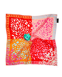 'Candy Baroque Spots' Classic Silk Scarf
