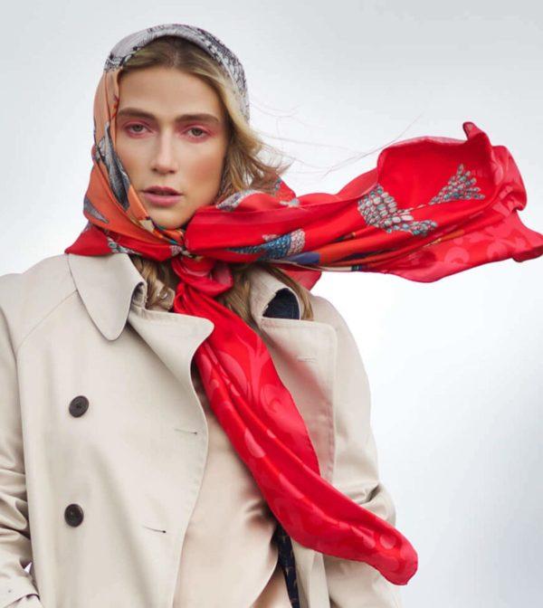Irish designer Susannagh Grogan Silk Scarves. Designed in Ireland.