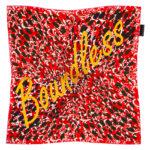 Silk scarf red and yellow Designed in Ireland by irish fashion designer Susannagh Grogan