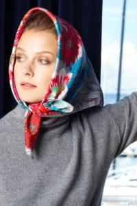 Susannagh Grogan silk headscarf