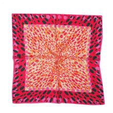 'Red Animal Print' Small Silk Scarf