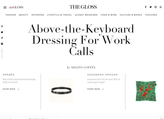 Above the Keyboard | The Gloss
