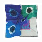Blue Floral chain Susannagh Grogan Small Silk scarf