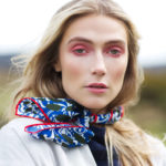 Irish designed silk scarf. Ireland