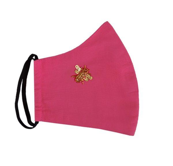 Irish Designer Pink Bee facemask Susannagh Grogan