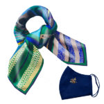Gift Set Susannagh Grogan S Green + Blue SilkScarf Navy Bee mask